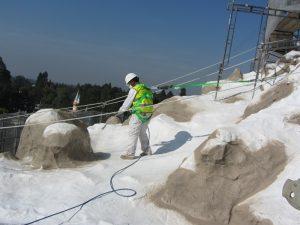 """Worker Applying Matterhorn """"Snow"""""""