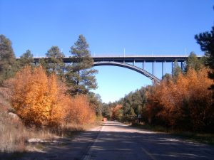 Canyon Span Arch Bridge complete recoat