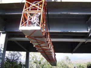 Painters using Snooper for Bridge Access